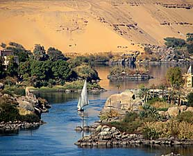 Alone on the felucca